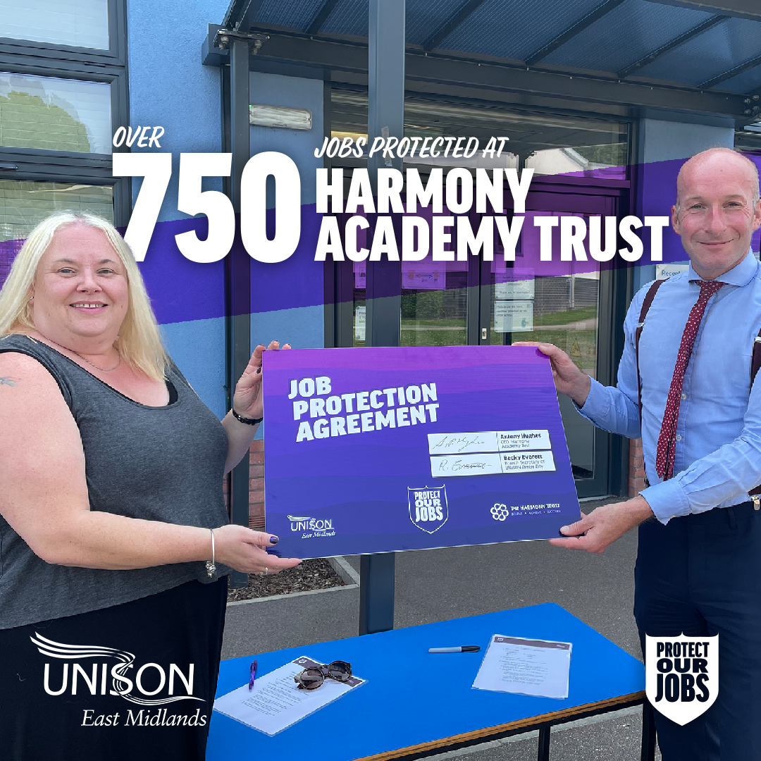 UNISON Branch Secretary of Derby City Branch and CEO of The Harmony Trust
